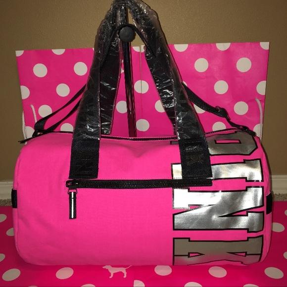 ceef114ea5 New Victoria s Secret Pink Mini Duffle Bag